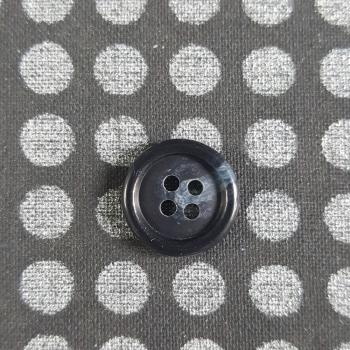 BLACK WITH GREY 4 HOLE BUTTON