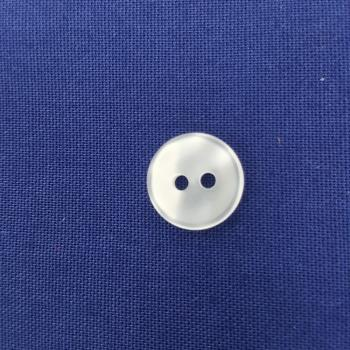 SHINY SMALL OPAQUE ROUND SHIRT BUTTON