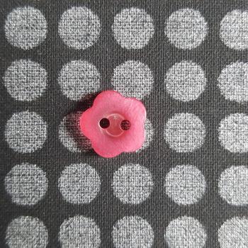 PINK FLOWER BUTTON