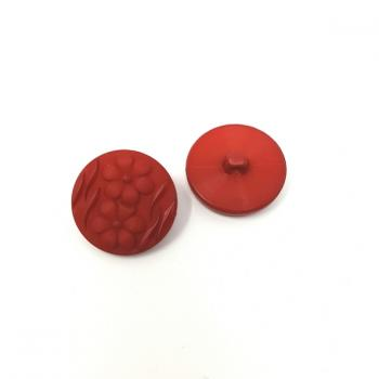 RED FLOWER PRINT BUTTON