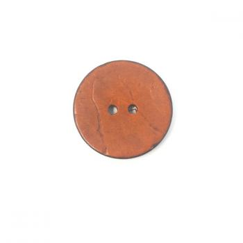 ORANGE COCONUT SHELL BUTTON