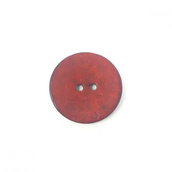 RED COCONUT SHELL BUTTON