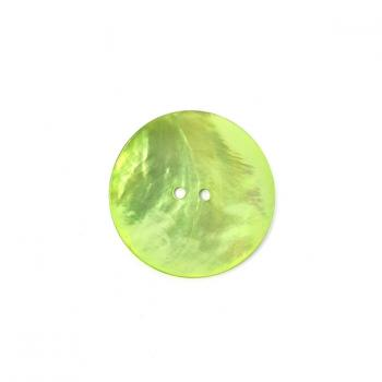 LIME GREEN LARGE MOTHER OF PEARL BUTTON