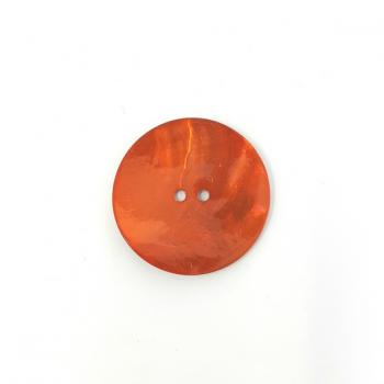 BRIGHT RED LARGE MOTHER OF PEARL BUTTON