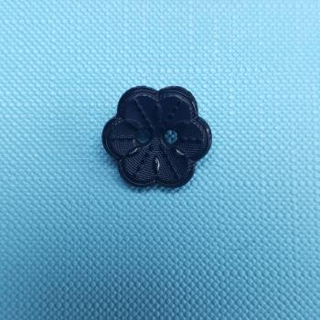 FLOWER BUTTON BLACK