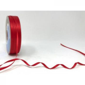 3mm DOUBLE FACED SATIN RIBBON RED