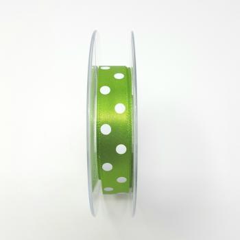 POLKA DOT RIBBON 15mm GREEN
