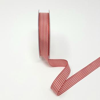 RED CHECK RIBBON 15mm