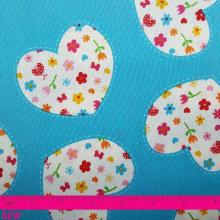 SIMPLY SWEET FLORAL HEARTS ON BLUE