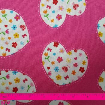 SIMPLY SWEET FLORAL HEARTS ON PINK