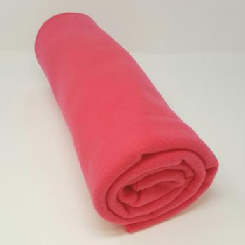 POLYESTER POLAR FLEECE BRIGHT PINK 1.5m x 1.5m