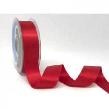 25mm DOUBLE FACED SATIN RIBBON RED