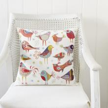 BIRD DANCE CUSHION EMBROIDERY