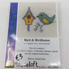 STITCHLETS BIRD AND BIRDHOUSE