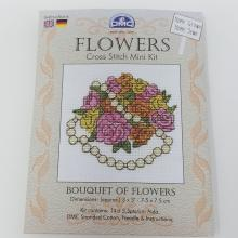 CROSS STITCH MINI KIT FLOWERS