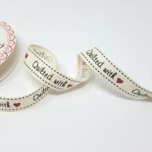 QUILTED WITH' GROSGRAIN RIBBON 16mm