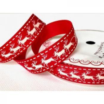 SANTA AND REINDEERS 16mm RED