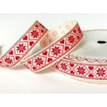 SCANDI SNOWFLAKE PATTERN 16mm IVORY