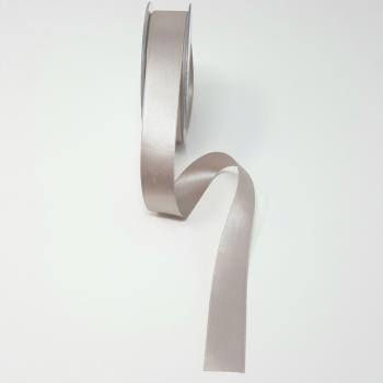 25mm DOUBLE FACED SATIN RIBBON SILVER GREY