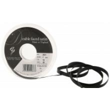 7mm DOUBLE FACED SATIN RIBBON BLACK