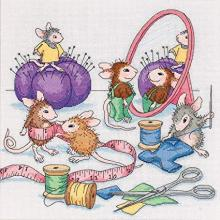 SEW BUSY MICE CROSS STITCH KIT