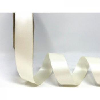 25mm DOUBLE FACED SATIN RIBBON ANTIQUE WHITE