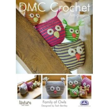 DMC AMIGURUMI CROCHET FAMILY OF OWLS