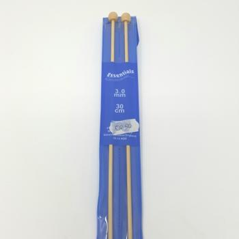 BAMBOO KNITTING NEEDLES 3.0mm 30cm