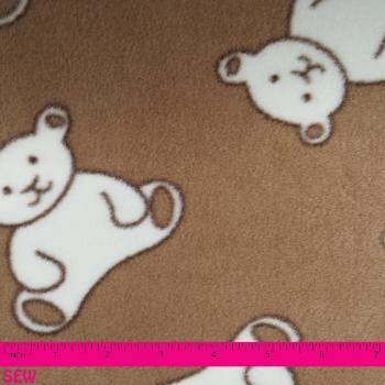 TEDDY BEARS FLEECE 1.5m x 1.5m