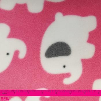ELEPHANT FLEECE PINK 1.5m x 1.5m