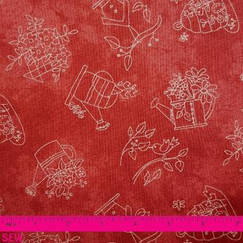 A QUILTER'S GARDEN RED STITCH PATTERN