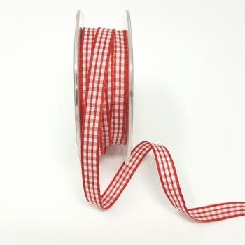 RED AND WHITE CHECK 3/8in