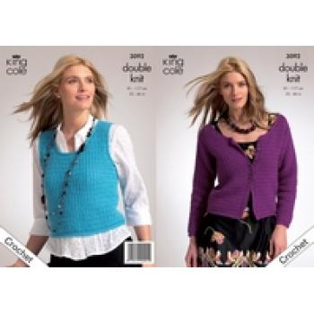 KING COLE WOMEN'S CROCHET PATTERN 3092