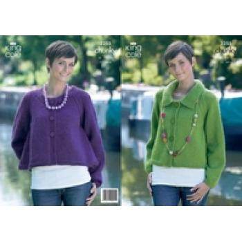 KING COLE CHUNKY WOMEN'S KNIT PATTERN 3255