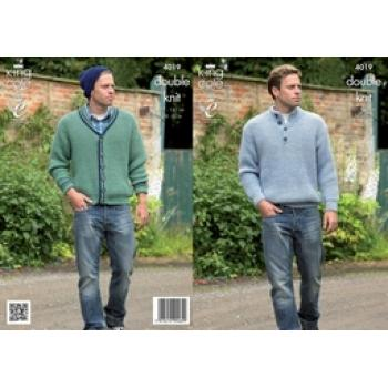 KING C0LE DK MEN'S KNIT PATTERN 4019