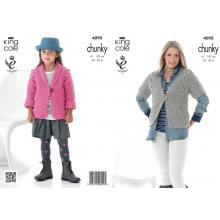 KING C0LE GIRL'S AND WOMEN'S CHUNKY KNIT PATTERN 4090
