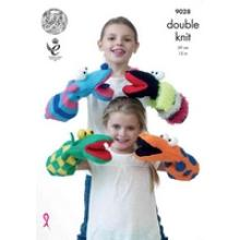 KING COLE PUPPETS PATTERN 9028