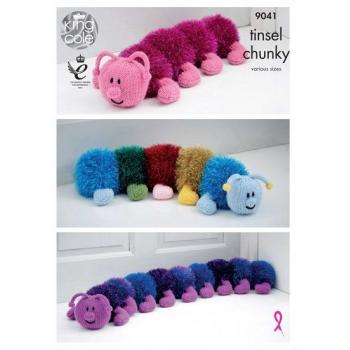 KING COLE TINSEL CHUNKY CATERPILLAR PATTERN 9041.