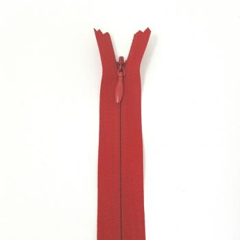 NYLON INVISIBLE ZIP 9inch/23cm RED