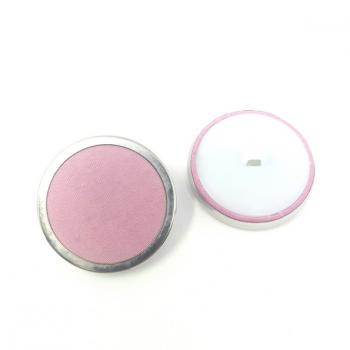 PINK FABRIC BUTTON LARGE