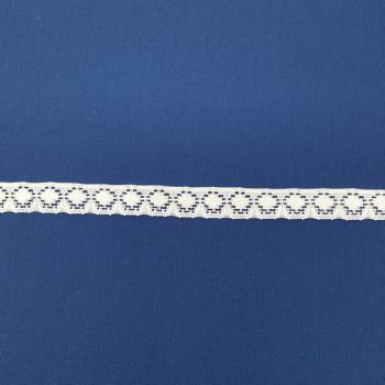 LACE FLAT POLY 12mm WHITE