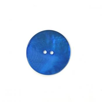 BLUE LARGE MOTHER OF PEARL BUTTON