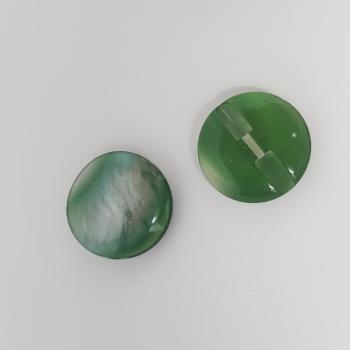 RETRO ROUND GREEN/IRIDESCENT BUTTON