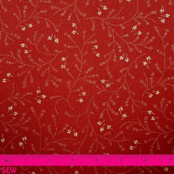 MODA FRENCH GENERAL RED FLORAL