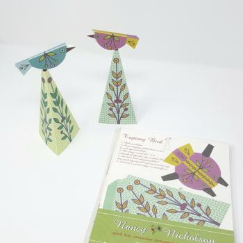 NANCY NICHOLSON CARD TOPIARY BIRD
