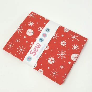 DASHWOOD SNOWFLAKES 0N RED