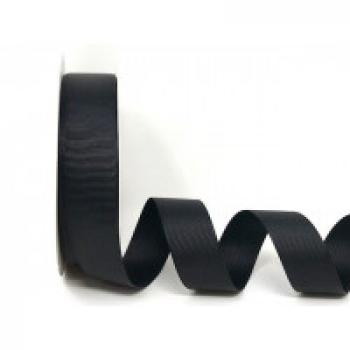25mm BLACK GROSGRAIN RIBBON