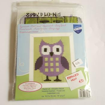 LONG STITCH PURPLE OWL