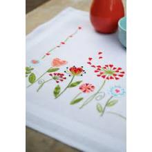 FLOWERS TABLE RUNNER EMBROIDERY KIT