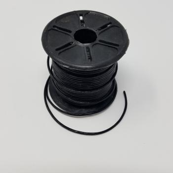1mm LEATHER THONGING BLACK